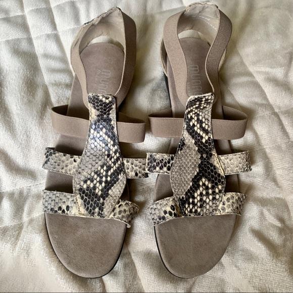 Munro Snake Print Sandals